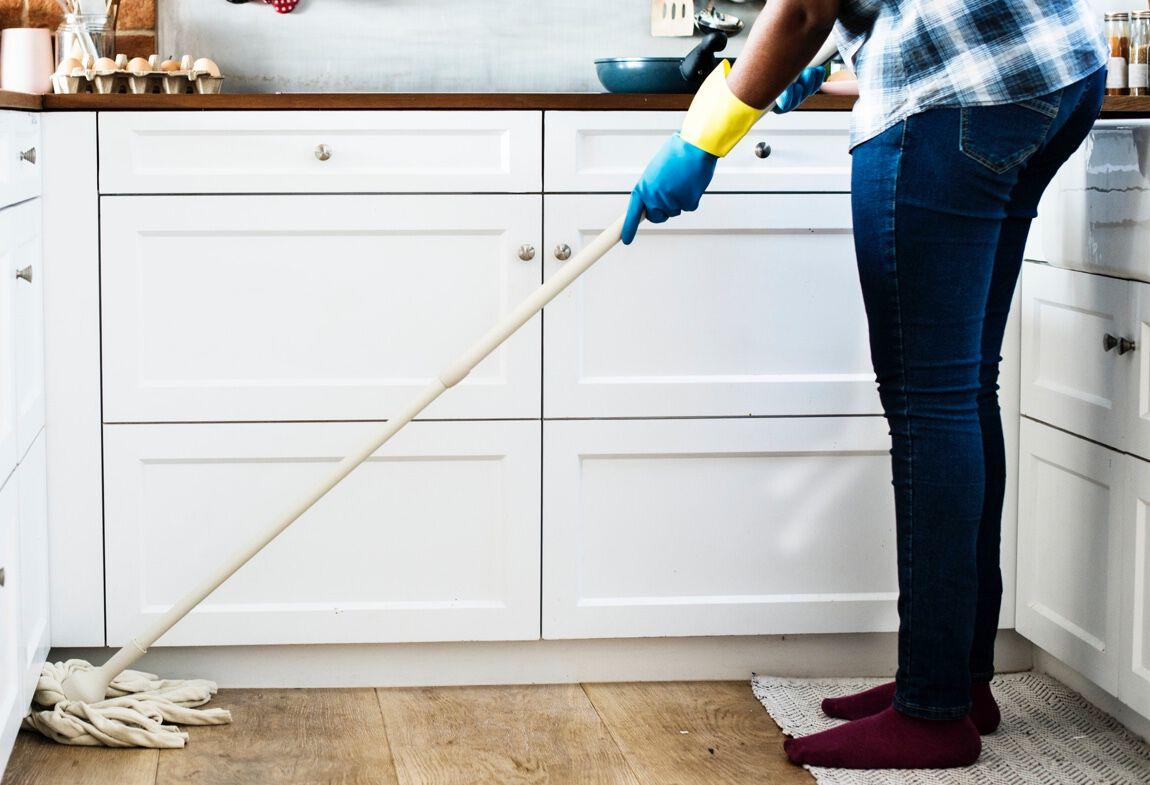 Rengör hemtvätt och husstädning Vektorbild